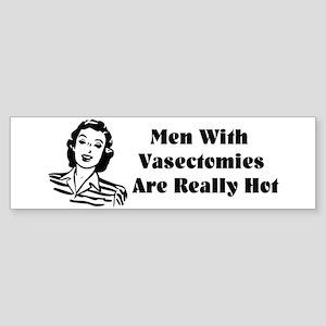 Men With Vasectomies Sticker (Bumper)