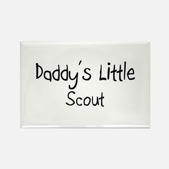 Daddy's Little Scout Rectangle Magnet