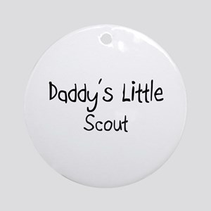 Daddy's Little Scout Ornament (Round)