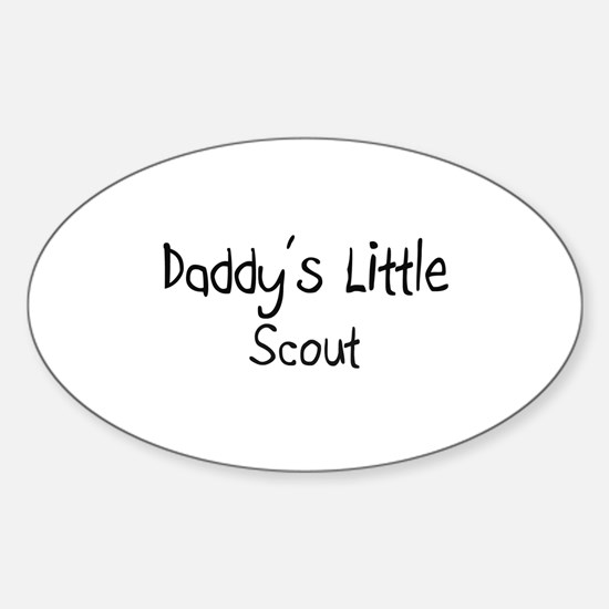 Daddy's Little Scout Oval Decal