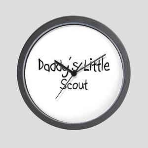 Daddy's Little Scout Wall Clock