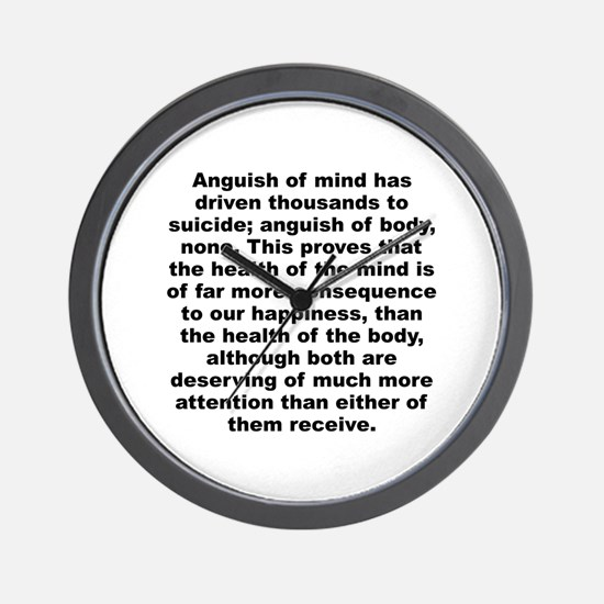 Cute C quote Wall Clock