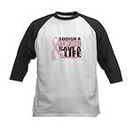 Save a Life Pink Ribbon Kids Baseball Jersey