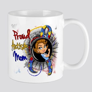 Autism Rosie Cartoon 1.1 Large Mugs