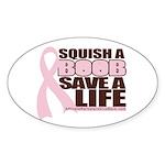 Save a Life Pink Ribbon Oval Sticker