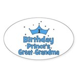 1st Birthday Prince's Great G Oval Sticker