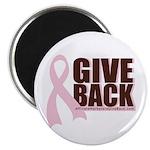 Give Back Pink Ribbon Magnet