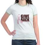 Give Back Pink Ribbon Jr. Ringer T-Shirt