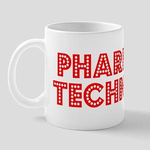 Retro Pharmacy Te.. (Red) Mug