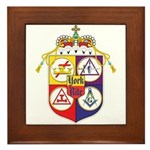 York Rite Masons Framed Tile