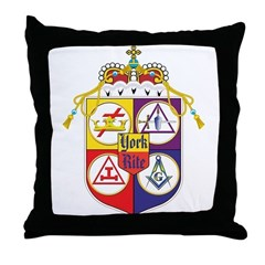 York Rite Crest Throw Pillow