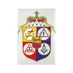 York Rite Crest Rectangle Magnet (100 pack)