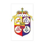 York Rite Crest Rectangle Sticker