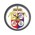 York Rite Crest Wall Clock