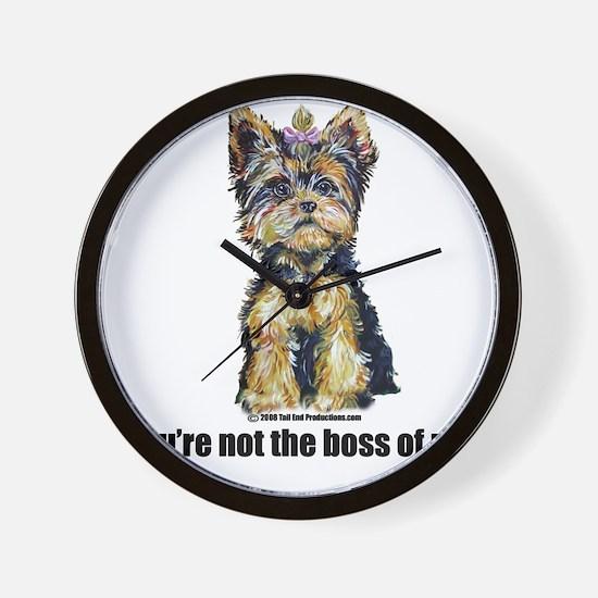 Yorkshire Terrier - Yorkie Bo Wall Clock