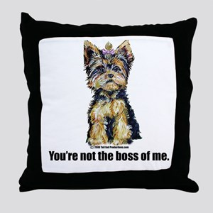 Yorkshire Terrier - Yorkie Bo Throw Pillow