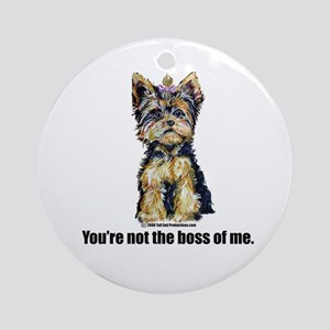 Yorkshire Terrier - Yorkie Bo Ornament (Round)