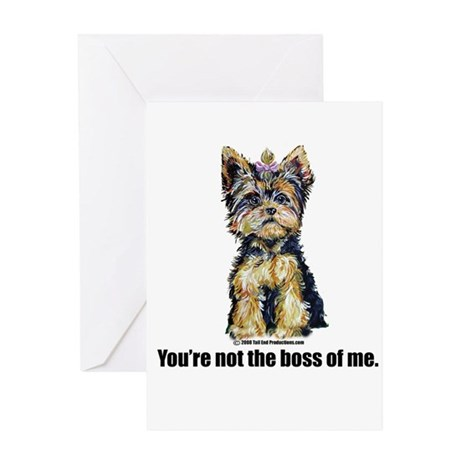 Yorkshire Terrier - Yorkie Bo Greeting Card