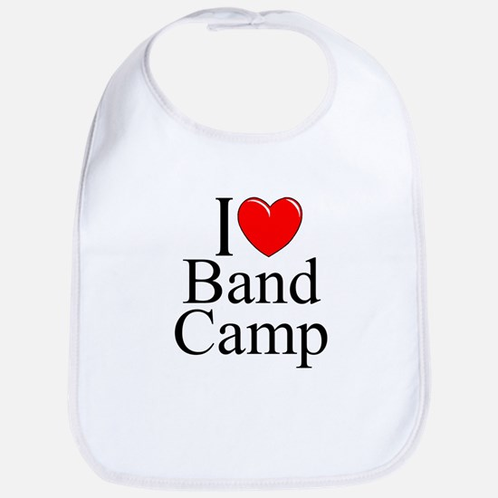 """I Love (Heart) Band Camp"" Bib"