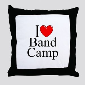 """I Love (Heart) Band Camp"" Throw Pillow"