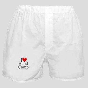 """I Love (Heart) Band Camp"" Boxer Shorts"