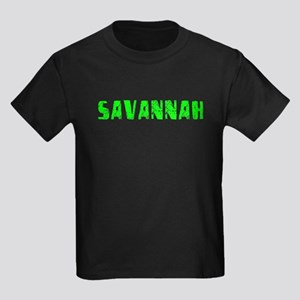 Savannah Faded (Green) Kids Dark T-Shirt