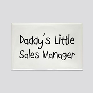 Daddy's Little Sales Manager Rectangle Magnet
