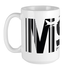New Orleans Louisiana MSY Air Wear Large Mug