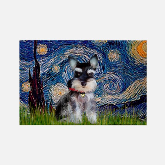 Starry / Schnauzer Rectangle Magnet