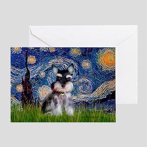 Starry / Schnauzer Greeting Card