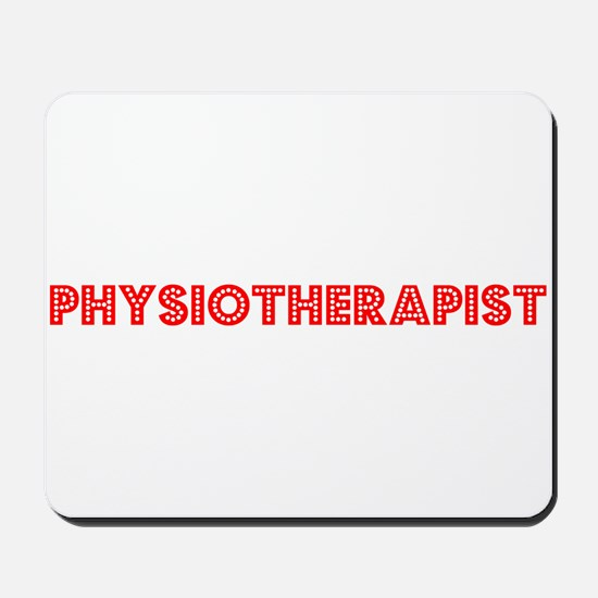 Retro Physiothera.. (Red) Mousepad