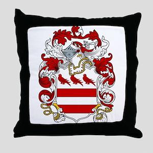 Denton Family Crest Throw Pillow