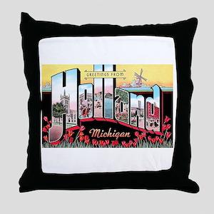 Holland Michigan Greetings Throw Pillow