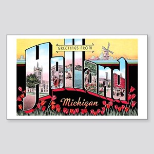 Holland Michigan Greetings Rectangle Sticker