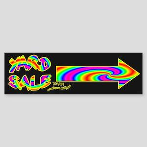 Yard Sale Arrows Bumper Sticker