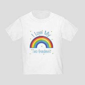 I love my Two Grandmas Toddler T-Shirt