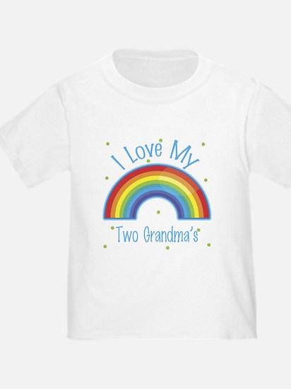 I love my Two Grandmas T