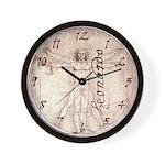Leonardo's Vitruvian Man Wall Clock