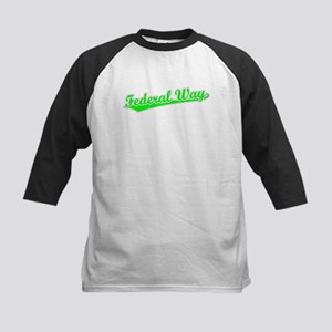 Retro Federal Way (Green) Kids Baseball Jersey