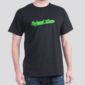Retro Federal Way (Green) Dark T-Shirt