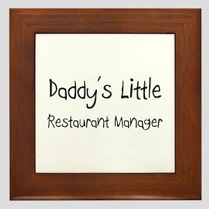 Daddy's Little Restaurant Manager Framed Tile