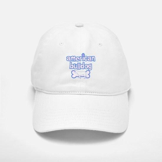 Powderpuff American Bulldog Baseball Baseball Cap