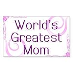 World's Greatest Mom Sticker (Rectangle 10 pk)
