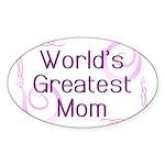 World's Greatest Mom Sticker (Oval 10 pk)