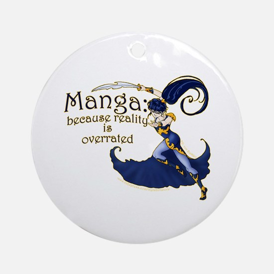 Fun Manga Fan Design Ornament (Round)