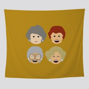 Golden Girls Emoticon Heads Wall Tapestry