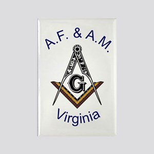 Virginia Square and Compass Rectangle Magnet