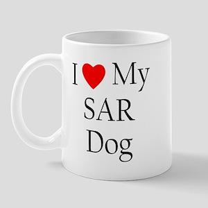 I Love My SAR Dog Mug