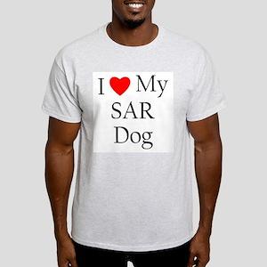 I Love My SAR Dog Ash Grey T-Shirt