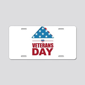 I love veterans day Aluminum License Plate